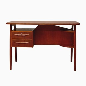 Teak Desk by Gunnar Nielsen Tibergaard for Tibergaard, 1960s