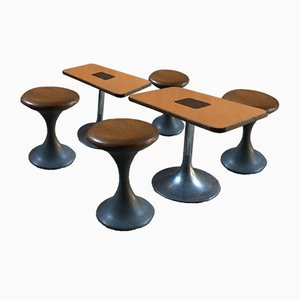 2 Tulip Tables & 4 Tulip Stools, 1960s