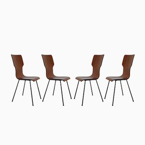 Italian Chairs by Carlo Ratti, 1950s, Set of 4