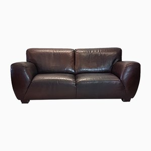 Fat Boy Brown Leather 2-Seater Sofa from Molinari, 2003