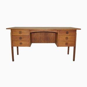 Vintage Teak furnierter Schreibtisch von Svend Aage Madsen für Sigurd Hansen