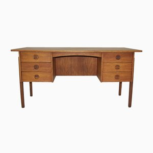 Vintage Teak Veneered Desk by Svend Aage Madsen for Sigurd Hansen