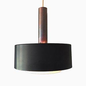 Lampada a sospensione modernista in metallo di Niek Hiemstra per Hiemstra Evolux, anni '50