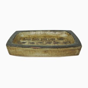 Glazed Stoneware Dish by Jorgen Mogensen for Royal Copenhagen, 1960s