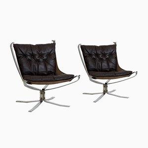 Vintage Falcon Chairs von Sigurd Resell für Vatne Møbler, 2er Set
