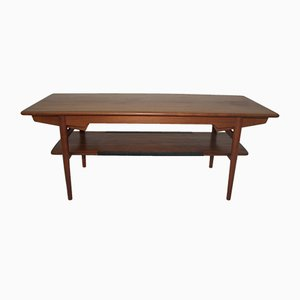 Teak Veneered Coffee Table, 1960s
