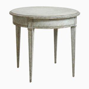 Mesa de noche antigua pequeña estilo gustaviano