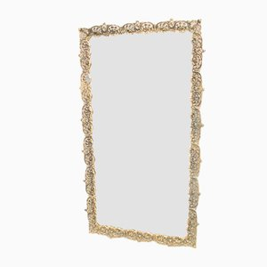 Mid-Century German Brass Mirror, 1960s