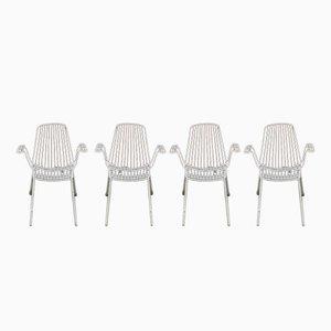 Chaises de Jardin Vintage en Métal de Erlau Munich, Set de 4