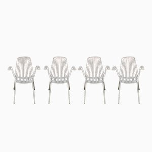 Vintage Metal Garden Chairs from Erlau Munich, Set of 4