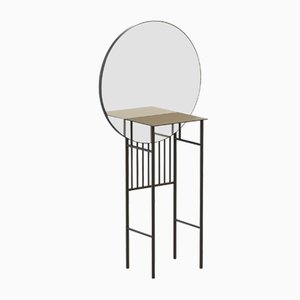 SO-NAIVE Mirror Console Table in Black by Alex Baser for MIIST