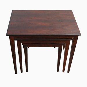 Tavolini ad incastro vintage, anni '70, set di 3