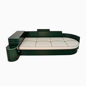 Sofá cama vintage de nogal lacado