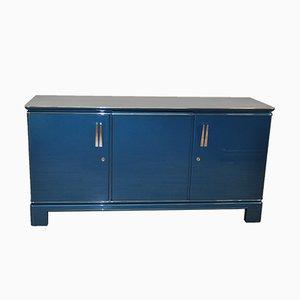Metallisches blaues Vintage Sideboard, 1940er