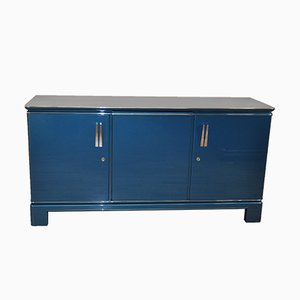 Vintage Metallic Blue Sideboard, 1940s