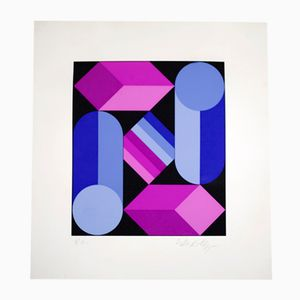 Lithography by Victor Vasarely, 1970