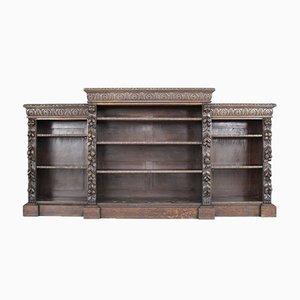 Viktorianisches Bücherregal aus geschitzter Eiche