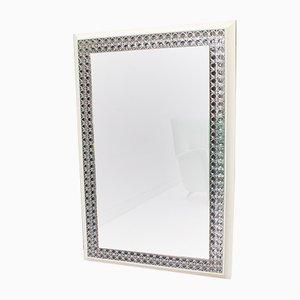 Espejo de pared era espacial grande iluminada, años 60