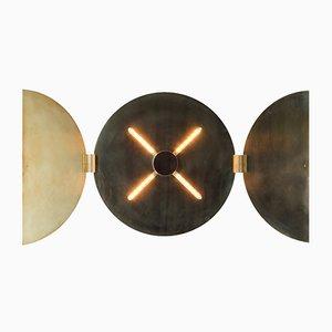Lámpara de pared tríptico redonda de Jesse Visser, 2015