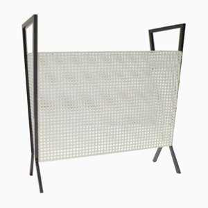Magazine Rack in Perforated Metal, 1950s