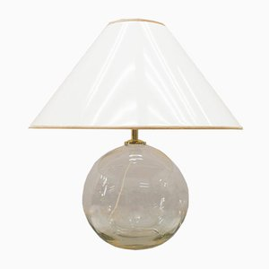 Gold and Clear Glass Table Lamp, 1960s