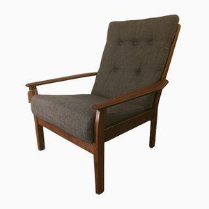 Anthrazitfarbener Sessel aus Leinen von Cintique, 1960er