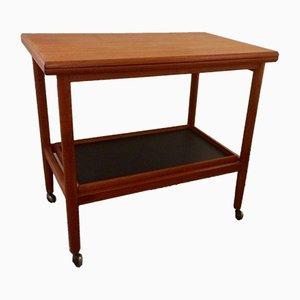 Table à Rallonge avec Roulettes et Plateau Amovible par Grete Jalk pour Arrebo Mobler, 1960s