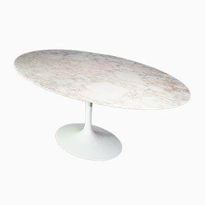 Mesa de comedor Tulip vintage de mármol de Eero Saarinen para Knoll