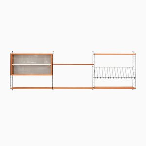 Vintage Teak Shelving System by Kajsa & Nisse Strinning for String, 1950s