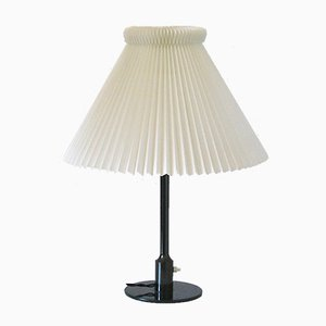 Vintage Brass Thykier Table Lamp with Le Klint Lampshade by Niels Rasmussen for Fog & Mørup