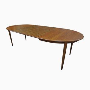 Tavolo da pranzo allungabile in teak di Kai Kristiansen per Skovmand & Andersen