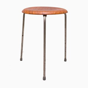 Dot Stool in Teak by Arne Jacobsen for Fritz Hansen, 1950s