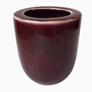 Vaso in ceramica rossa, anni '60