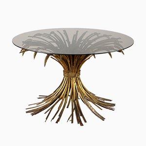 Tavolino da caffè con base a fascio di grano, anni '60