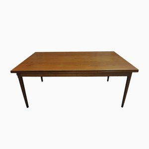 Vintage Teak Extendable Dining Table With Black Feet by Niels Otto Møller for J. L. Møllers