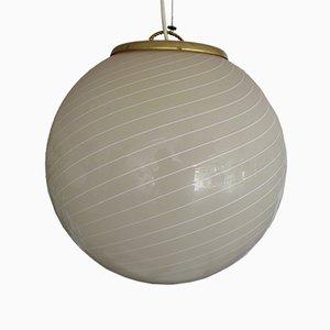 Lampadario sferico in vetro di Murano, anni '60