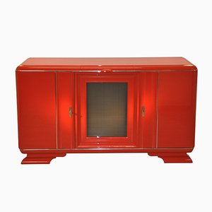 Rotes Art Deco Buffet, 1920er