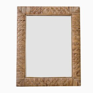 Finnish Rattan Mirror, 1950s