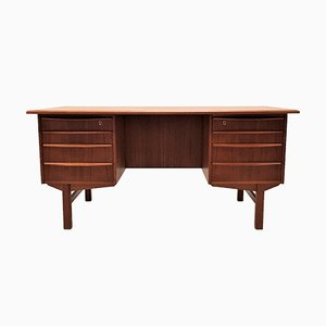 Danish Freestanding Teak Desk from H.P. Hansen, 1960s
