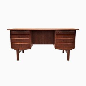 Freistehender dänischer Schreibtisch aus Teak von H.P. Hansen, 1960er