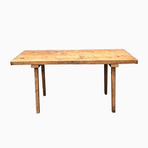 Tavolo da lavoro in quercia, inizio XX secolo