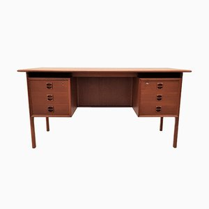 Danish Freestanding Teak Desk, 1960s