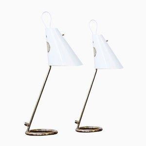 Lámparas de mesa B 90 de Hans Agne Jakobsson, años 60. Juego de 2