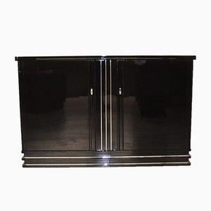 Credenza Art Deco nera, anni '30