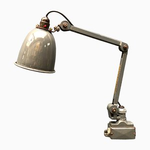 English Grey Wall Lamp from EDL, 1940s