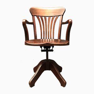 American Oak Desk Chair, 1920s