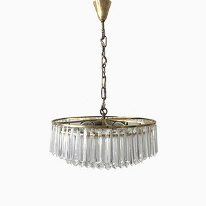 Viennese Crystal Glass Chandelier from Bakalowits & Söhne, 1950s