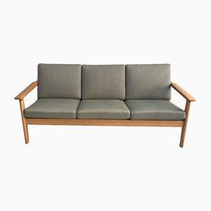 Sofa aus Eichenholz von Hans J. Wegner für Getama, 1980er