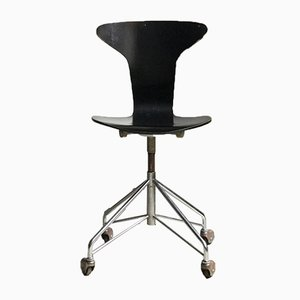 Bürostuhl von Arne Jacobsen für Fritz Hansen, 1960er