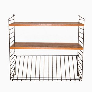 Wall Shelf & Magazine Rack by Nisse Strinning for String, 1960s